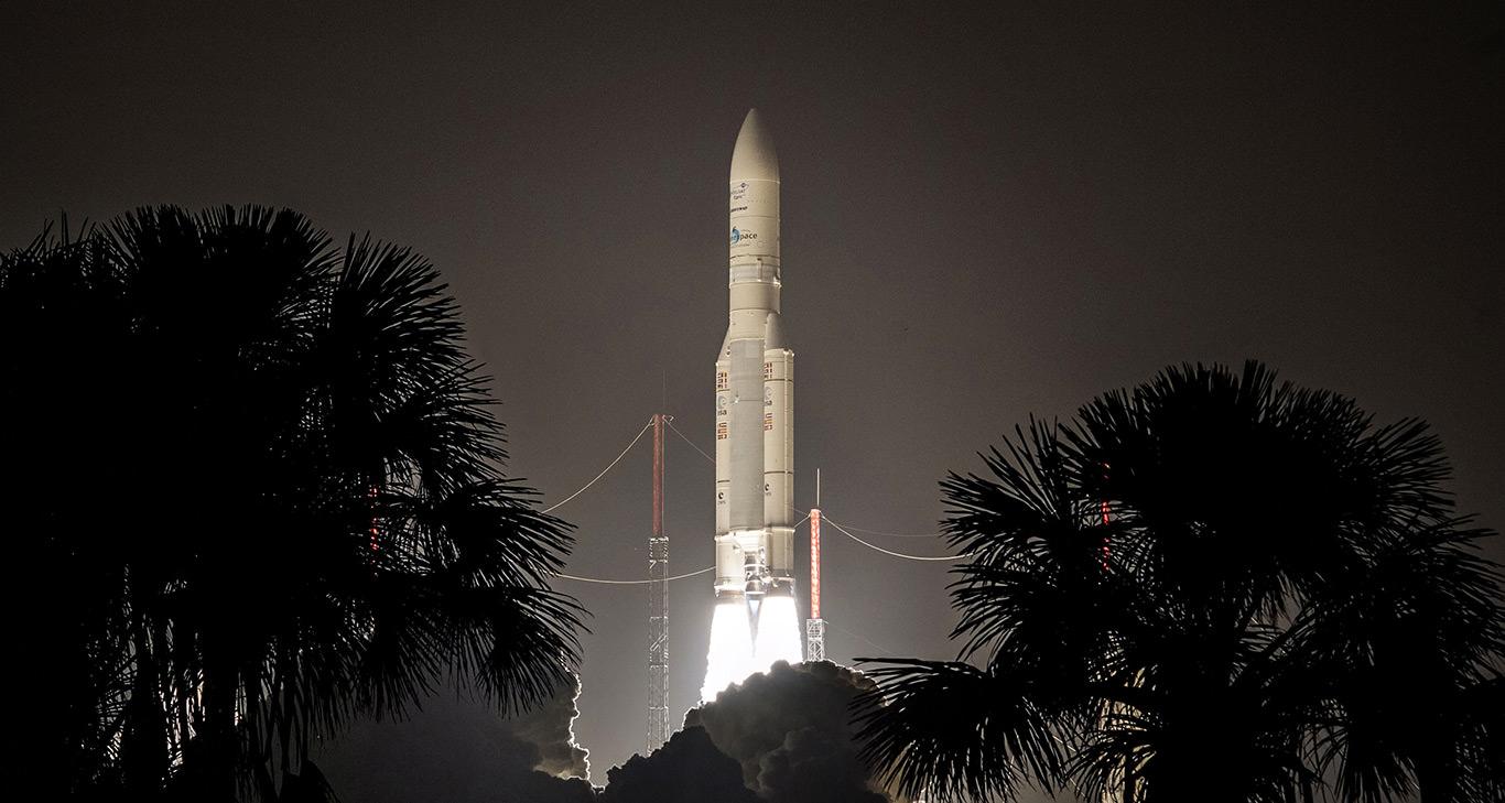 Ariane 5 demonstriert mit gleichzeitigem start von vier galileo-satelliten erneut ihre flexibilität