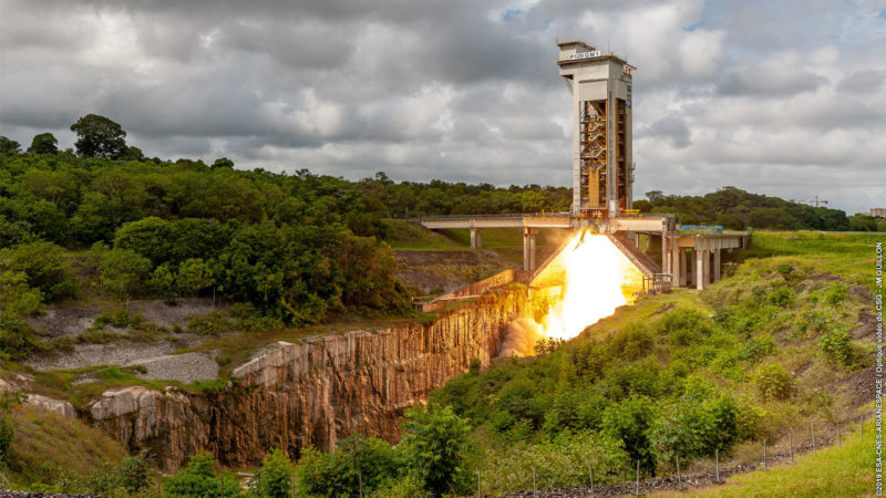 Successful second test firing for the P120C solid rocket motor for Ariane 6 and Vega-C