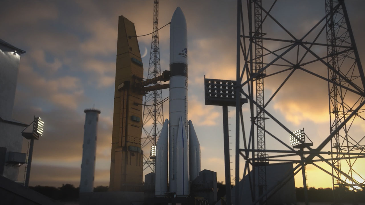 New video: Ariane 6, rocketing to the Moon with a new ultralight upper stage