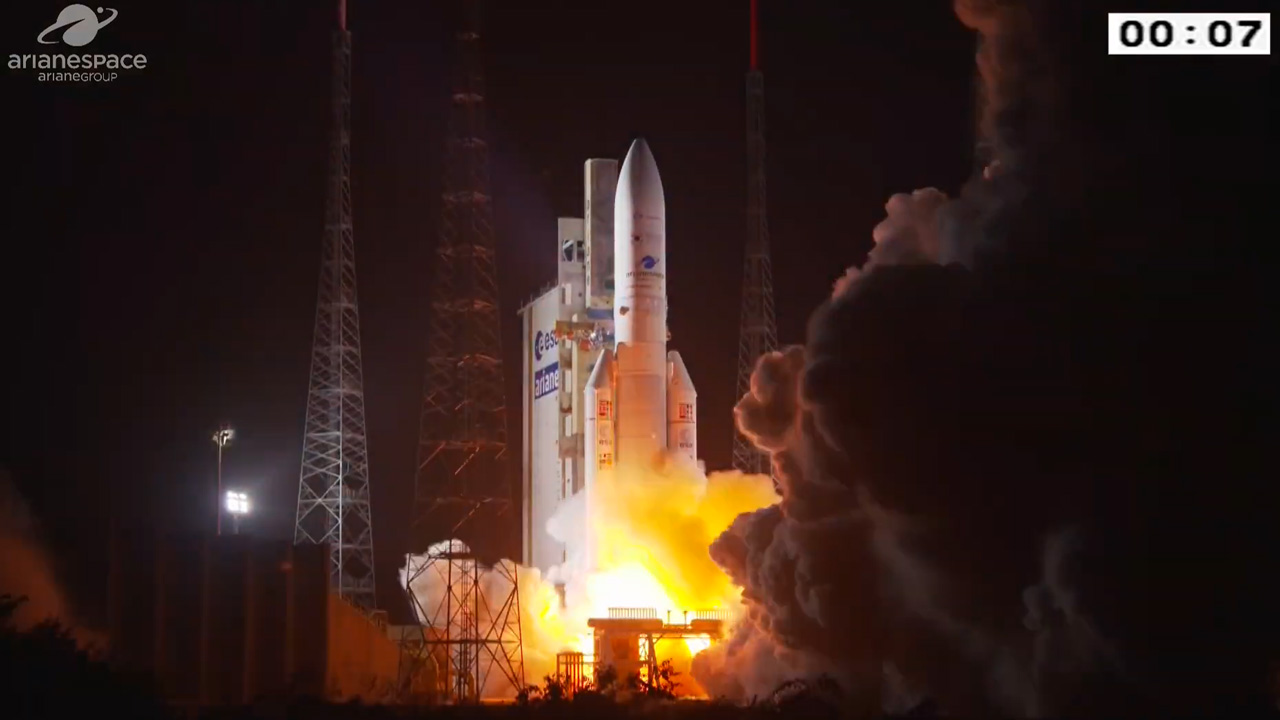 Ariane 5 Second Launch of 2020 is a Success