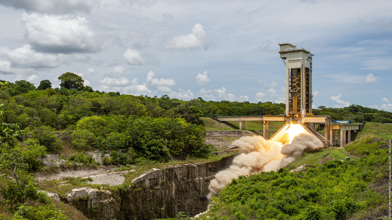 Successful final test firing of the P120C solid rocket motor for Ariane 6 and Vega-C
