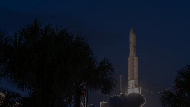 Une fusée pour le transport spatial