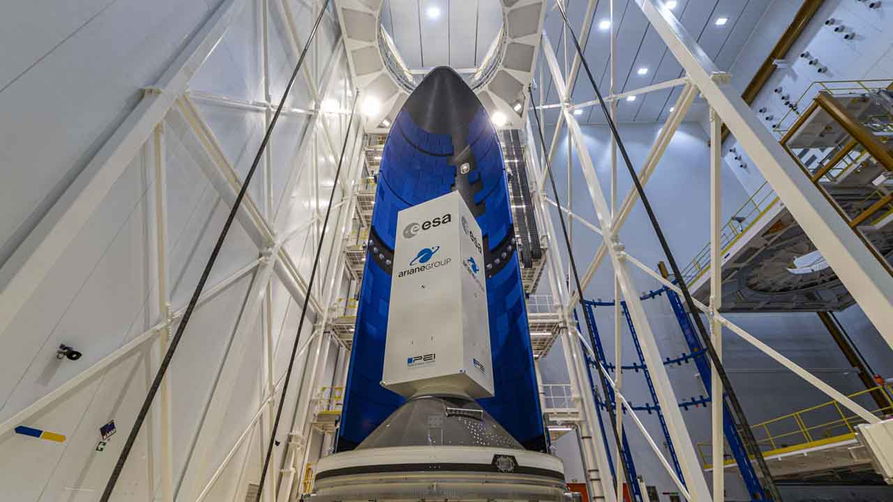 The very first Ariane 6 fairing is put through its paces at the European spaceport